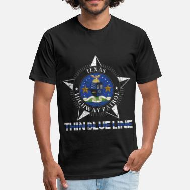 Highway Patrol Texas Highway Patrol Texas Highway Patrol Shirt - Fitted Cotton/Poly T-Shirt by Next Level