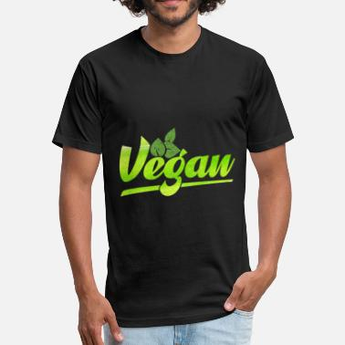 Fights Vegan Vegan gift animal rights save life fight - Fitted Cotton/Poly T-Shirt by Next Level