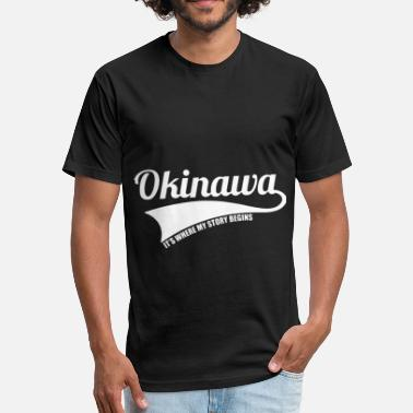 Okinawa Japan okinawa japan t shirts - Fitted Cotton/Poly T-Shirt by Next Level