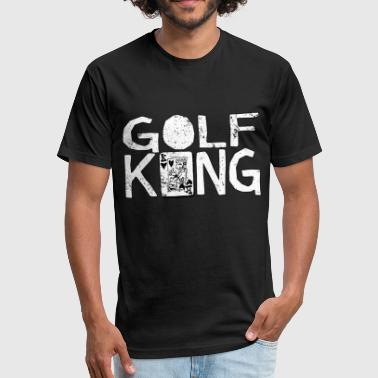 Fun Card Game Golf King - Fitted Cotton/Poly T-Shirt by Next Level