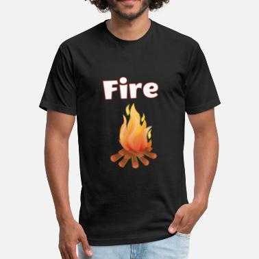 Kids Fire Fire - Fitted Cotton/Poly T-Shirt by Next Level