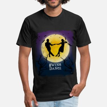 Swing Swing Dance Halloween Vintage Art Ballroom Dancer - Fitted Cotton/Poly T-Shirt by Next Level