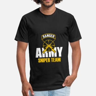 Sniper Team Sniper TEAM ARMY - Fitted Cotton/Poly T-Shirt by Next Level
