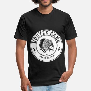 Hustle Hustle Gang Hustle Gang Men Hustle - Fitted Cotton/Poly T-Shirt by Next Level