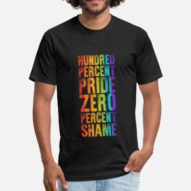 Gay The Hundreds Hundred Percent Pride Zero Percent Shame - Fitted Cotton/Poly T-Shirt by Next Level