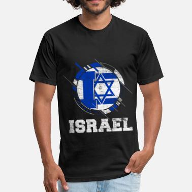 Israel Israel Jerusalem Flag Star of David Jewish Jew - Fitted Cotton/Poly T-Shirt by Next Level