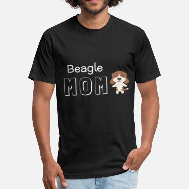 Beagle Mom Beagle Mom - Fitted Cotton/Poly T-Shirt by Next Level