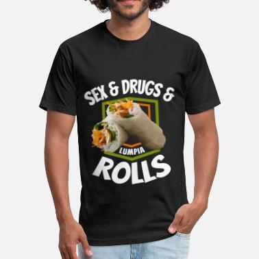 Pinoy Design Got Lumpia Roll Gift, Phillipino Pinoy Food Gift, - Fitted Cotton/Poly T-Shirt by Next Level