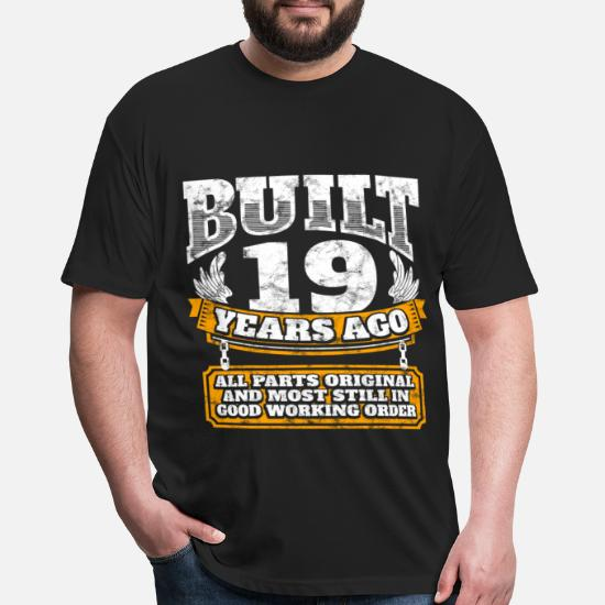 19th Birthday Gift Idea Built 19 Years Ago Shirt Unisex Poly Cotton