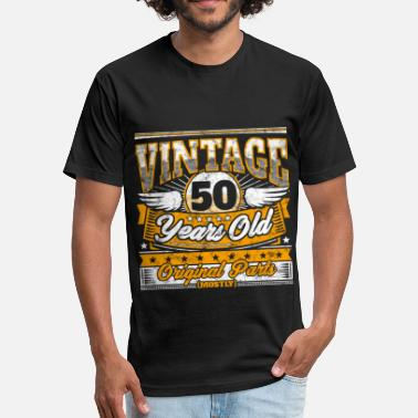 ad0d943012 Funny 50th Birthday Shirt: Vintage 50 Years Old - Unisex Poly Cotton T-Shirt
