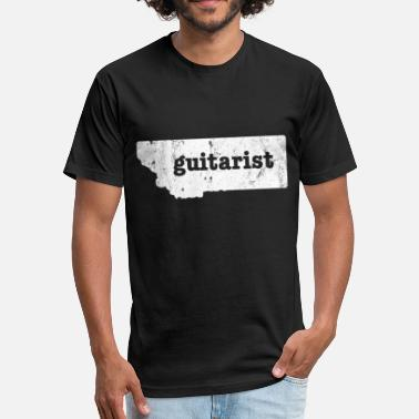 Blues Guitar Electric Guitar Shirt Montana T Shirt Best Blues Guitar Shirt - Fitted Cotton/Poly T-Shirt by Next Level