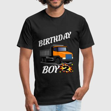 2 Year Old Birthday 2 Years Old Birthday ShirtDumptruck GifDesign - Fitted Cotton/Poly T-Shirt by Next Level