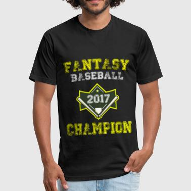 Fantasy Baseball Champion 2017 - Fitted Cotton/Poly T-Shirt by Next Level