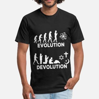 Science Evolution Evolution Devolution science - Fitted Cotton/Poly T-Shirt by Next Level