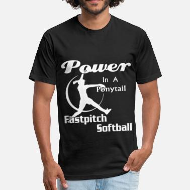 Breast Pitcher Power in a fastpitch softball - Unisex Poly Cotton T-Shirt