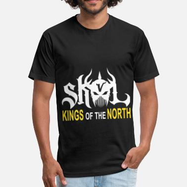 Football Chant SKOL Kings Shield The North Chant Minnesota Footba - Fitted Cotton/Poly T-Shirt by Next Level