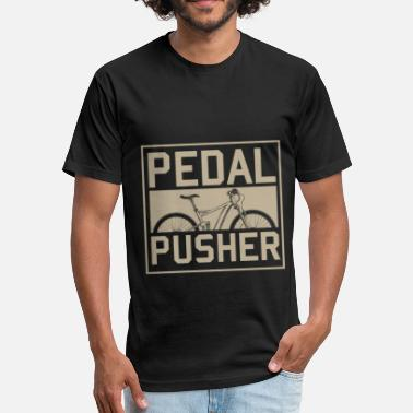 Pedals Pedal Pusher - Fitted Cotton/Poly T-Shirt by Next Level