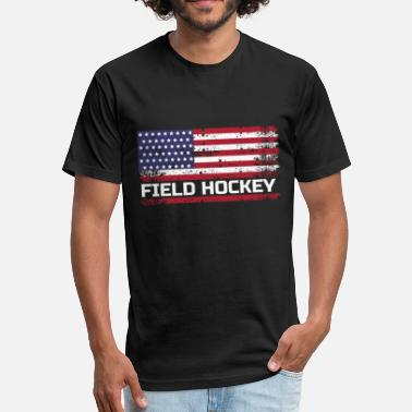 Field Hockey Mom Clothes USA Field Hockey, USA Field Hockey Gift, Field Hockey Gift - Fitted Cotton/Poly T-Shirt by Next Level
