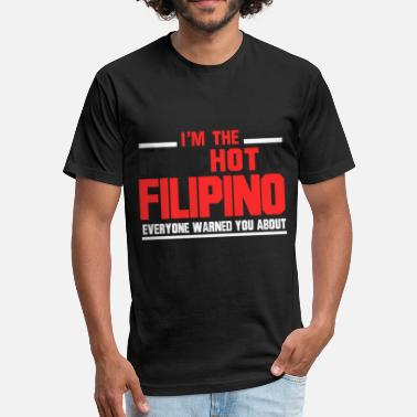 Funny Filipino I'm The Psychotic Filipino - Fitted Cotton/Poly T-Shirt by Next Level
