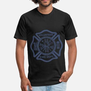 Volunteer Fire Department FIREFIGHTER VOLUNTEER FIRE DEPARTMENT RESCUE EMT G - Fitted Cotton/Poly T-Shirt by Next Level