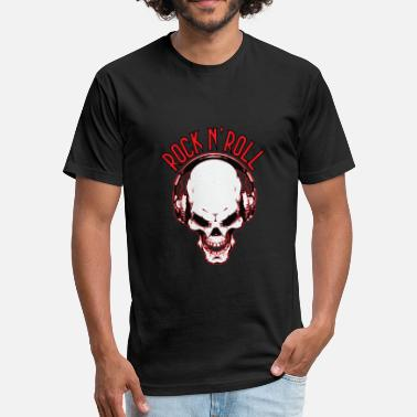 Skull Rock N Roll Rock n´Roll Skull - Unisex Poly Cotton T-Shirt
