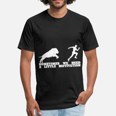 Motivate Lion Lion Running Motivation Men Shirt - Fitted Cotton/Poly T-Shirt by Next Level
