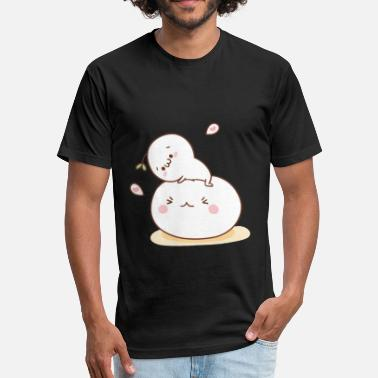 Cute anime - Fitted Cotton/Poly T-Shirt by Next Level