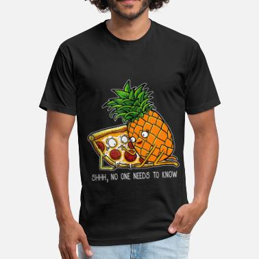 Love Pizza Pineapple Pizza Shirt - Funny T Shirt Pizza day - Fitted Cotton/Poly T-Shirt by Next Level