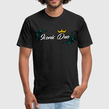 Iconic Duo Brian Justine Pre Iconic Duo Logo - Fitted Cotton/Poly T-Shirt by Next Level