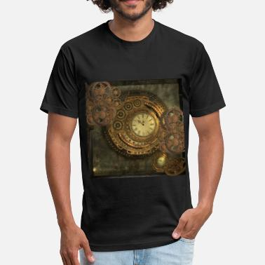 Steampunk Awesome steampunk design - Fitted Cotton/Poly T-Shirt by Next Level