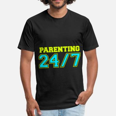 Parental Leave New Parent Parenting 247 4000x4000 - Fitted Cotton/Poly T-Shirt by Next Level