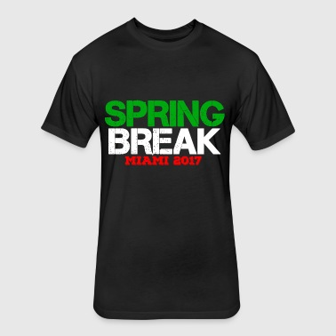 SPRING BREAK MIAMI 2017 - Fitted Cotton/Poly T-Shirt by Next Level