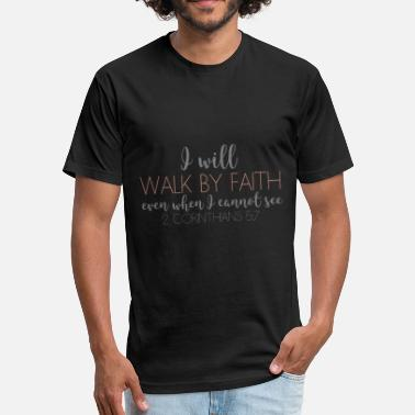 2 Corinthians 5:7 - live by faith, not by sight. - Unisex Poly Cotton T-Shirt