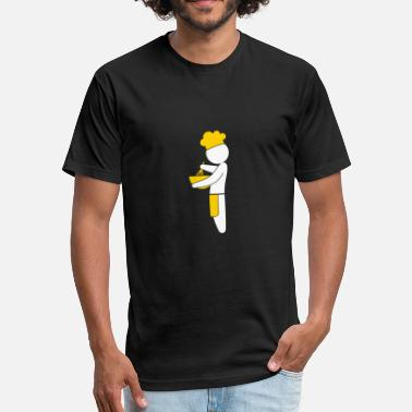 Chef Cook A Gourmet Chef Cooks In The Kitchen - Fitted Cotton/Poly T-Shirt by Next Level