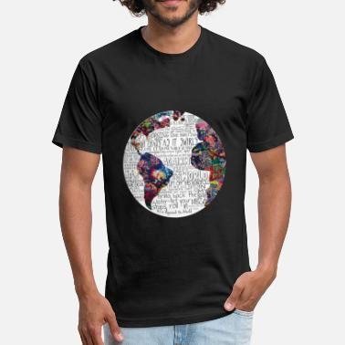 World Map world map - Unisex Poly Cotton T-Shirt