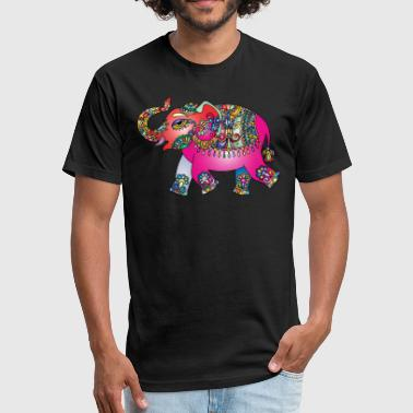 indian elephant - Fitted Cotton/Poly T-Shirt by Next Level