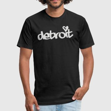Detroit - Fitted Cotton/Poly T-Shirt by Next Level