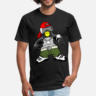 Rapper PENGUIN RAPPER HIP HOP ARTIST TEARING UP THE MUSIC - Fitted Cotton/Poly T-Shirt by Next Level