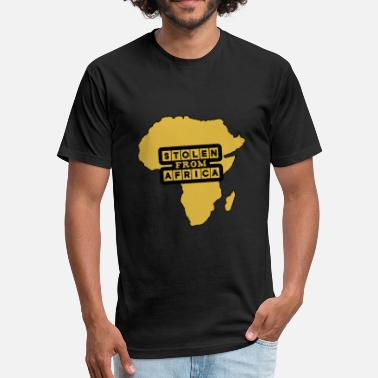 Stolen Black History Month - Stolen From Africa - Fitted Cotton/Poly T-Shirt by Next Level