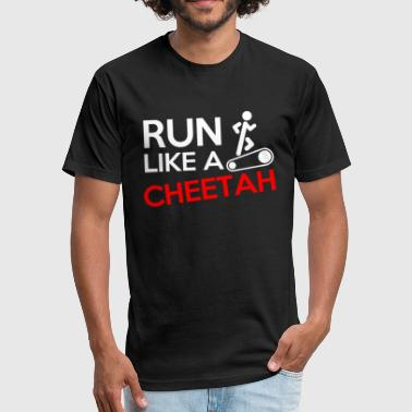 Run Like a Cheetah - Fitted Cotton/Poly T-Shirt by Next Level