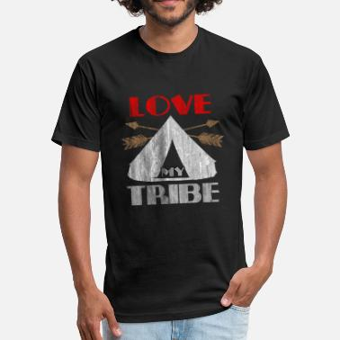 Indian Tribe Indian Love Tribe - Fitted Cotton/Poly T-Shirt by Next Level