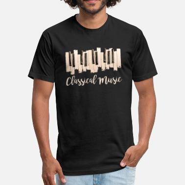 Classical Piano Classical Music Piano - Fitted Cotton/Poly T-Shirt by Next Level
