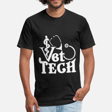 Stethoscope VET TECH STETHOSCOPE SHIRT - Unisex Poly Cotton T-Shirt