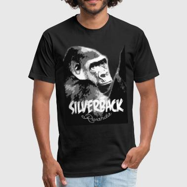 Rwanda Silverback Male Gorilla - Fitted Cotton/Poly T-Shirt by Next Level