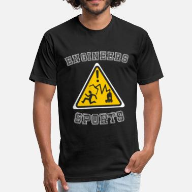 At Sign Sport Funny Triangle Robotic Engineers Sports Sign - Fitted Cotton/Poly T-Shirt by Next Level