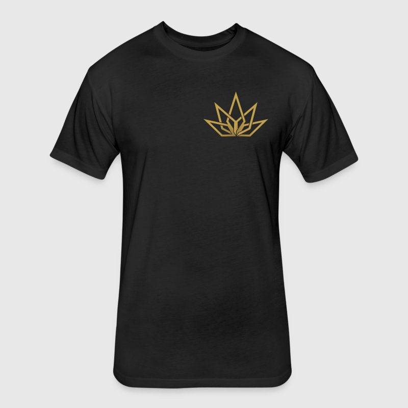 DHG - Long Sleeve Gold Chest Logo - Men's - Fitted Cotton/Poly T-Shirt by Next Level