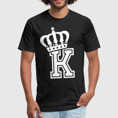 K-tees Name: Letter K Character K Case K Alphabetical K - Fitted Cotton/Poly T-Shirt by Next Level