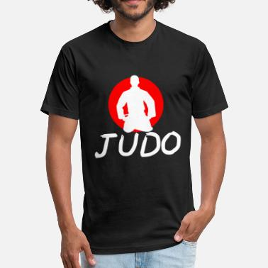 Judo Tournament Judo martial arts signs Japan defense - Fitted Cotton/Poly T-Shirt by Next Level