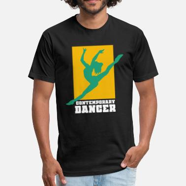 Contemporary Dance Contemporary Dance Dancing Modern Dancer Ballet - Fitted Cotton/Poly T-Shirt by Next Level