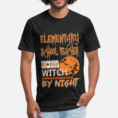 Night School Elementary School Teacher By Day Witch By Night Ha - Unisex Poly Cotton T-Shirt